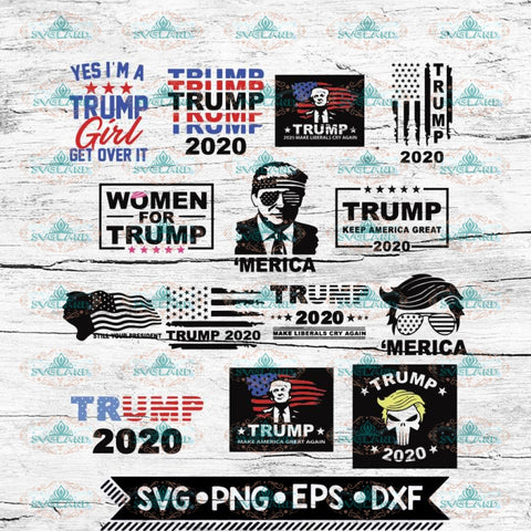 14 different TRUMP Svg, Trump Svg, Bundle, Cricut File, Svg, 4th of july