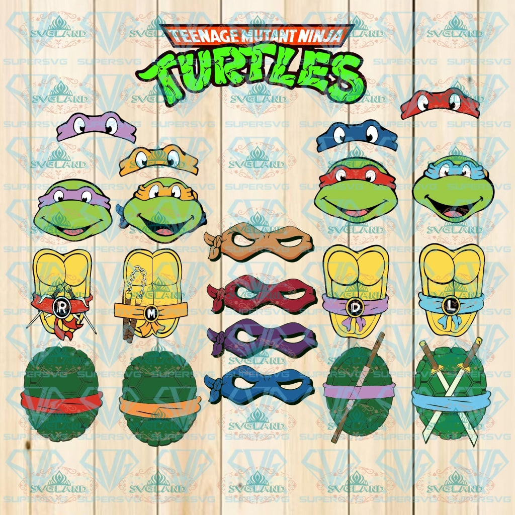 21 Teenage Mutant Ninja Turtles Svg Tmnt Turtles Bundle File Svg Digital