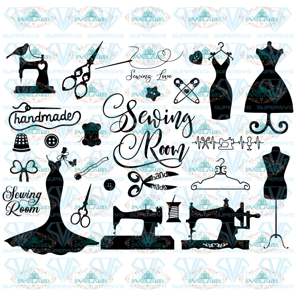 26 Sewing Svg Bundle Crafting Svg Sewing Machine Room Handmade Digital