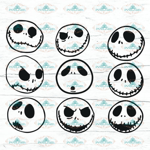 9 Nightmare Before Christmas Svg Jack Skellington Eps Png Dxf Art Clipart Cut Cutter Mrjack Vector