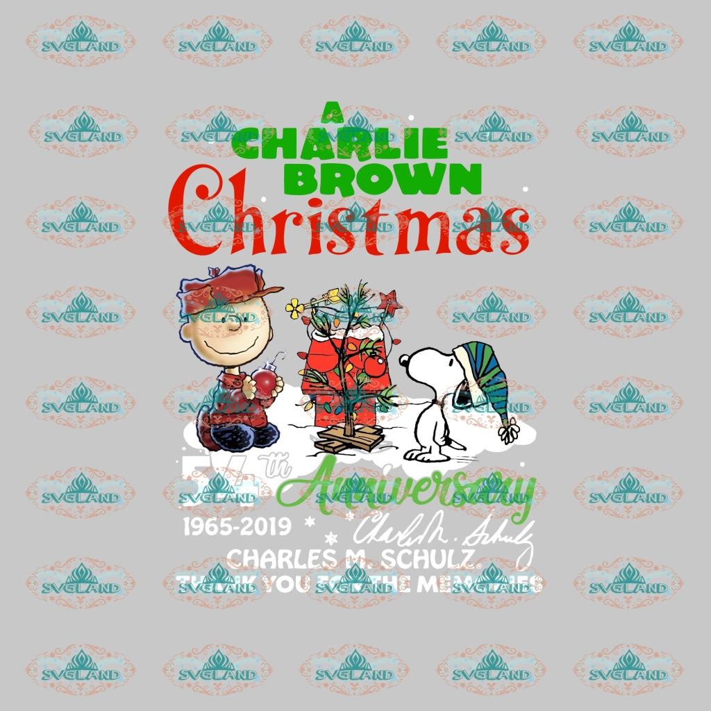 A Charlie Brown Christmas 54Th Anniversary Snoopy Snoopy Clipart Design Gift Merry Png 300Ppi