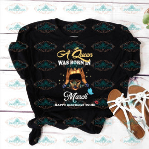 A Queen Was Born In January Happy Birthday To Me Svg Black Girl Melanin Gift Ideal Png Dxf Ep