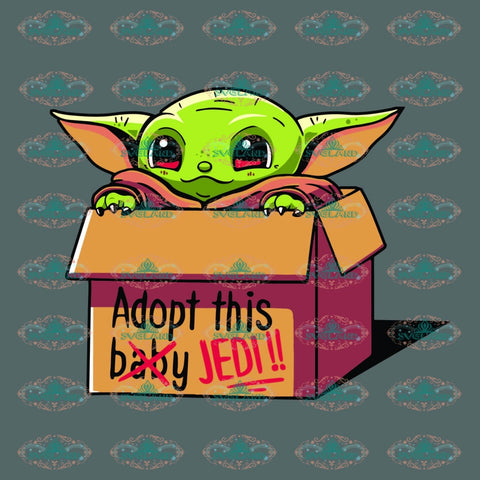 Adopt This Baby Jedi Star Wars Yoda War Svg Digital File Png Dxf Eps