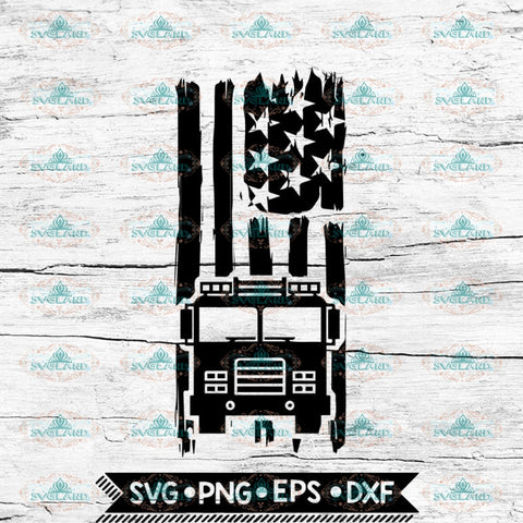 American Flag Fire Truck Svg, Firefighter Svg, Cricut File, Svg, America Flag Svg
