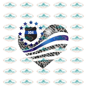 Apparel Personalized Leopard Patterned Flag Heart Police Dsapp S Black Png Digital