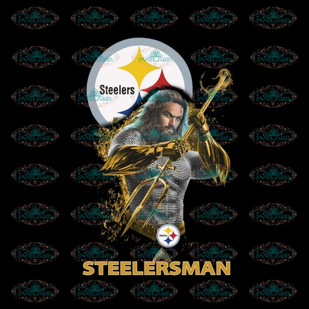 Aquaman Steelersman Pittsburgh Steelers PNG, NFL PNG, Printable PNG File 300 DPI, Sport PNG, Football PNG
