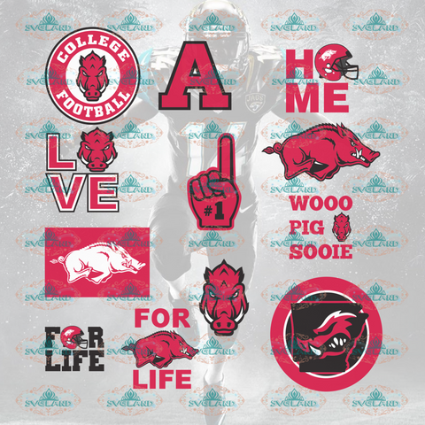 Arkansas Razorbacks Logo Arkansas Football Team Bundle File Nfl Ncaa Digital