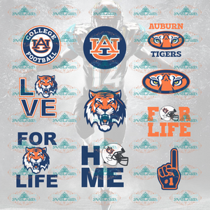Auburn Tigers Football Svg Tee Shirt Bundle File Nfl Ncaa Digital