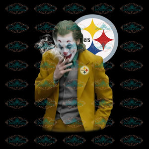 Awesome Joker Joaquin Phoenix Pittsburgh Steelers PNG, NFL Png, Sport Png, Love Football Png, Printable PNG File 300 DPI