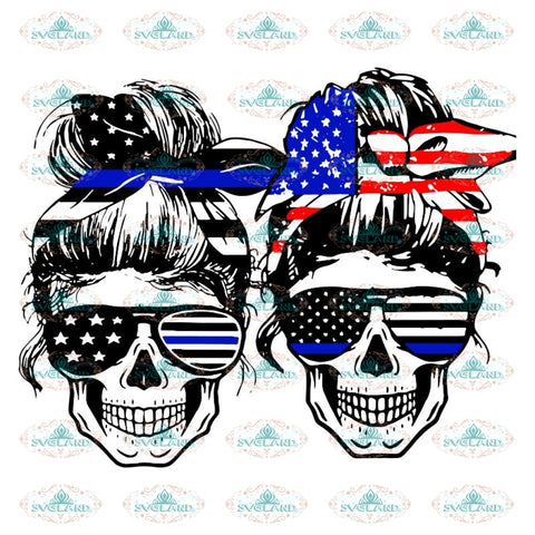 Back the Blue Skull Sublimation SVG ,PNG, stars, police png