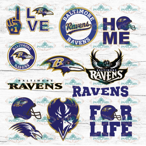 Baltimore Ravens Bundle File Team Football Fan College Svg American Nfl Ncaa Digital