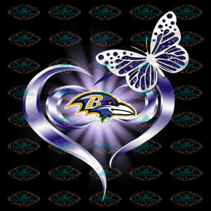 Baltimore Ravens Heart PNG, NFL PNG, Sport Png, Football Png, Printable Png 300 DPI