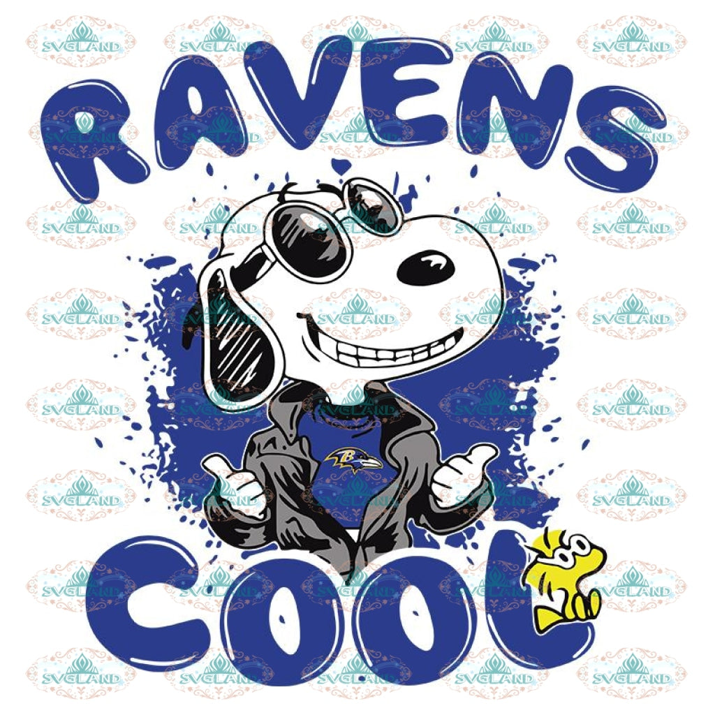 BALTIMORE RAVENS Snoopy Joe Cool Were Awesome Svg, Snoopy Ravens Svg, NFL Svg, Sport Svg, Football Svg, Cricut File, Clipart