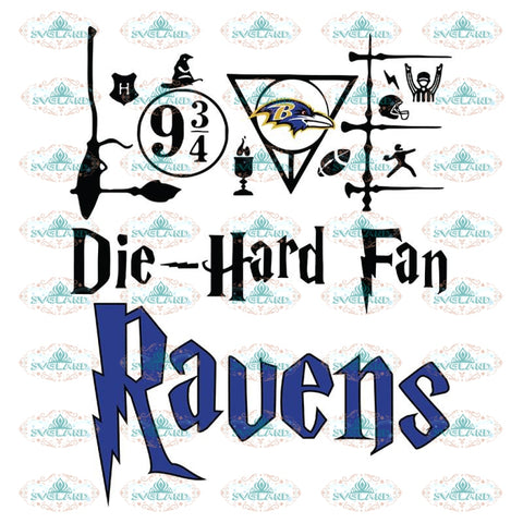Baltimore Ravens Svg, Harry Potter Svg, Cricut File, Clipart, NFL Svg, Football Svg, Sport Svg, Love Football Svg, Png, Eps, Dxf