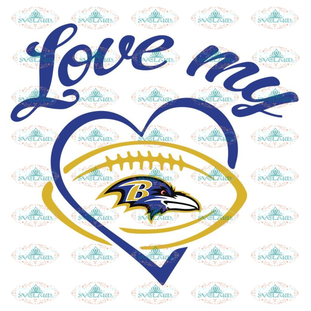 Baltimore Ravens Svg, Ravens Logo Girls Svg, NFL Svg, Sport Svg, Football Svg, Cricut File, Clipart, Love Football Svg 2