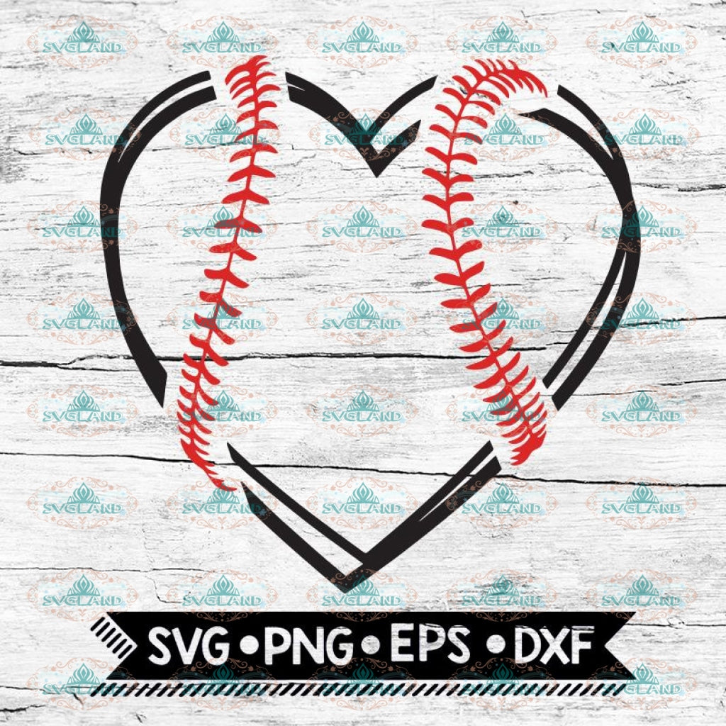 Baseball Heart Svg, Baseball Svg, Heart Svg, Cricut File, Svg, Baseball Svg