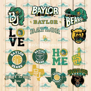 Baylor Bears Bundle File Svg Png Ncaa Dxf Sports Lovers Game Day Basketball Professional Team