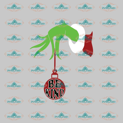 Be Kind Svg Grinch Dr Seuss Christmas Gift Digital