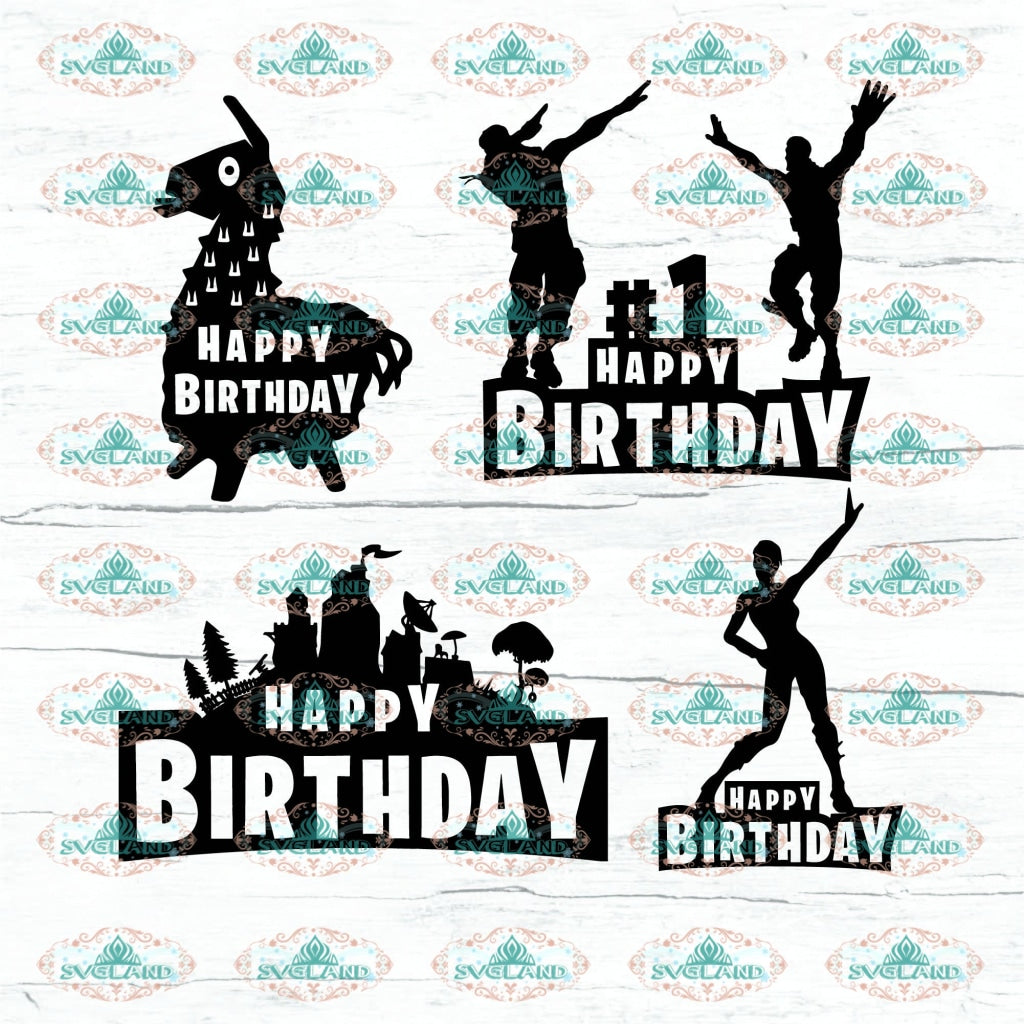 Birtday Fortnite Happy Birthday Dabbing Papercutting Template Cutting Diy Bundle Digital Printing