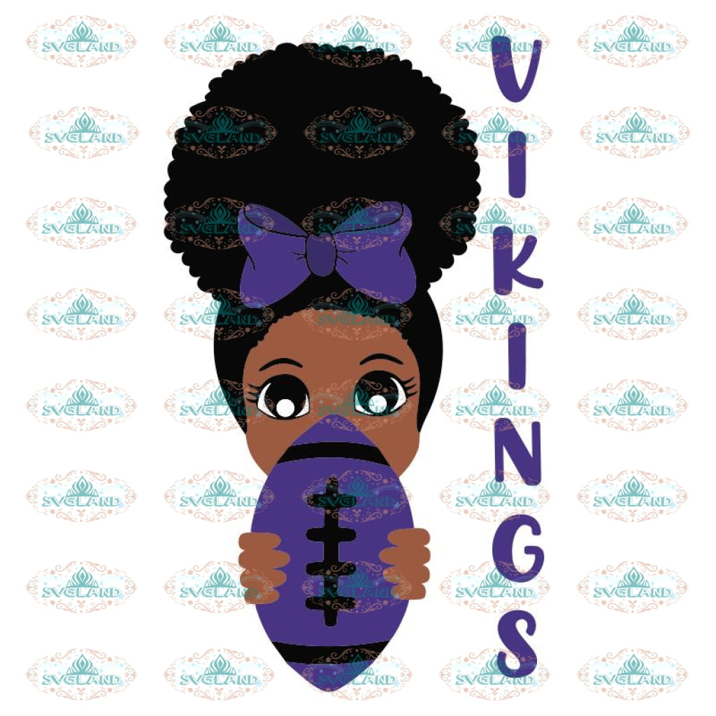 Black Girl Vikings Svg, Minnesota Vikings Svg, NFL Svg, Cricut File, Clipart, Peek a Boo Svg, Sport Svg, Football Svg, Png, Eps, Dxf