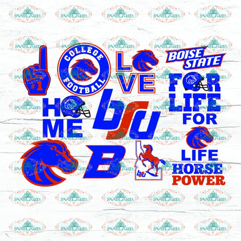 Boise State Football Bundle File Boise Fan Team College Svg American Nfl Ncaa Digital
