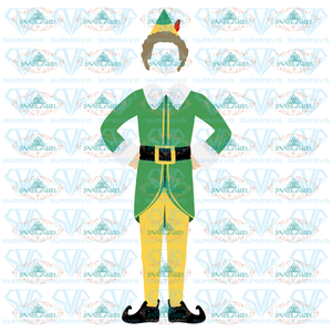 Buddy The Elf Christmas Svg Png Dxf Eps Holiday Movie Files For Greeting Cards Tshirts Gift Tags