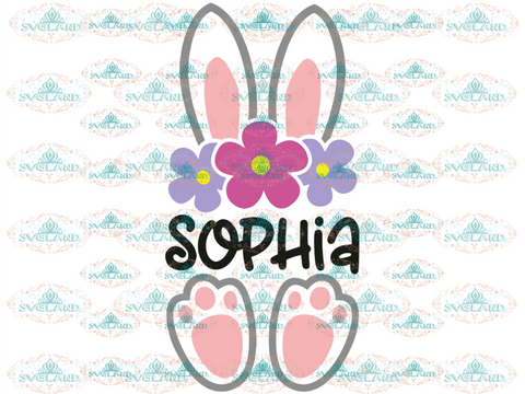 Bunny Svg Easter Bunny Baby Bucket Design My First Easter Svg Digital
