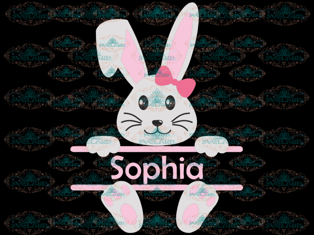 Bunny Svg Easter Svg Split Svg Face Cute Cricut File Silhouette Cut Png Digital