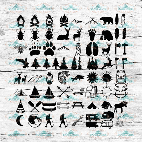 Camping, Camper Svg, Bundle, Summer Svg, Hiking Svg, Cricut File, Svg