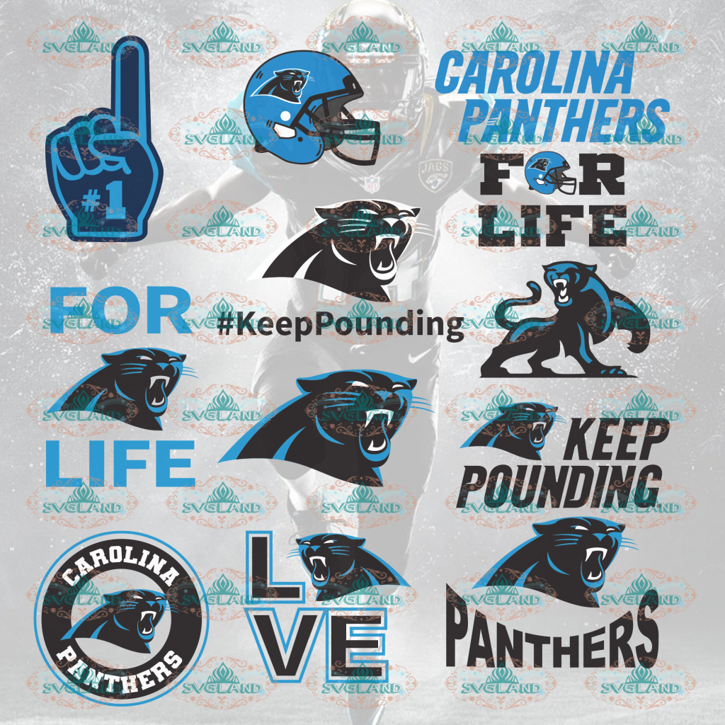 Carolina Panthers Football Carolina College Bundle File Nfl Ncaa Digital
