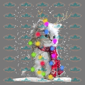 Cat Santa Christmas Winter Gift Merry Png Digital