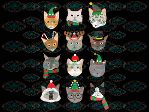 Cats Cat Christmas Winter Christmas Decor Gift Png Digital