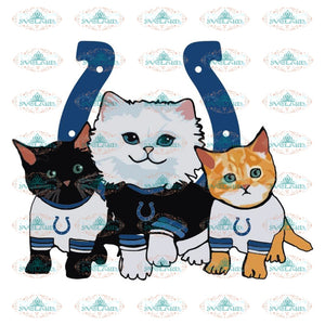 Cats Indianapolis Colts Svg, Cricut File, Clipart, NFL Svg, Football Svg, Sport Svg, Love Football Svg, Cute Cats Svg, Png, Eps, Dxf