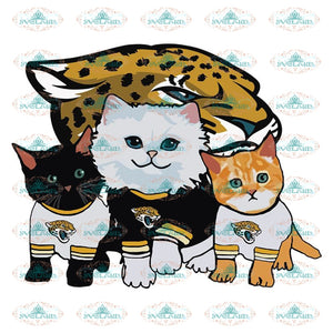 Cats Jacksonville Jaguars Svg, Cricut File, Clipart, NFL Svg, Football Svg, Sport Svg, Love Football Svg, Cute Cats Svg, Png, Eps, Dxf
