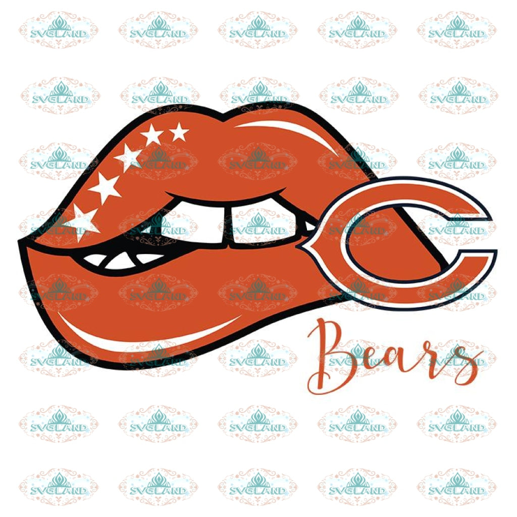Chicago Bears Lips Svg, Chicago Bears Svg, NFL Svg, Cricut File, Clipart, Sexy Lips Svg, Sport Svg, Football Svg, Png, Eps, Dxf
