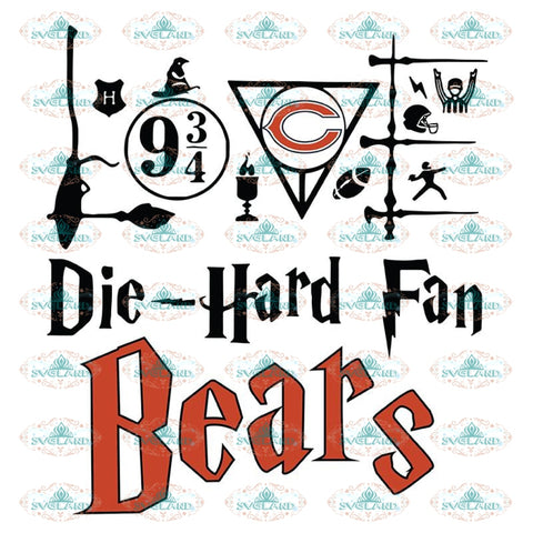 Chicago Bears Svg, Harry Potter Svg, Cricut File, Clipart, NFL Svg, Football Svg, Sport Svg, Love Football Svg, Png, Eps, Dxf