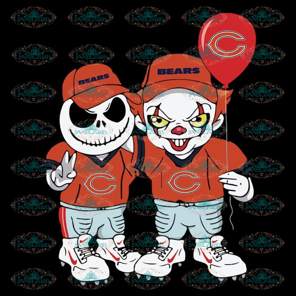 Chicago Bears Svg, Jack And IT Svg, Cricut File, Clipart, NFL Svg, Football Svg, Sport Svg, Love Football Svg, Png, Eps, Dxf