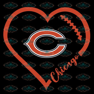 Chicago Bears Svg, Love Bears Svg, Cricut File, Clipart, NFL Svg, Football Svg, Sport Svg, Love Football Svg, Png, Eps, Dxf