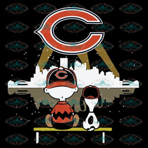 Chicago Bears Svg, Snoopy And Peanut Svg, Cricut File, Clipart, NFL Svg, Football Svg, Sport Svg, Love Football Svg, Png, Eps, Dxf