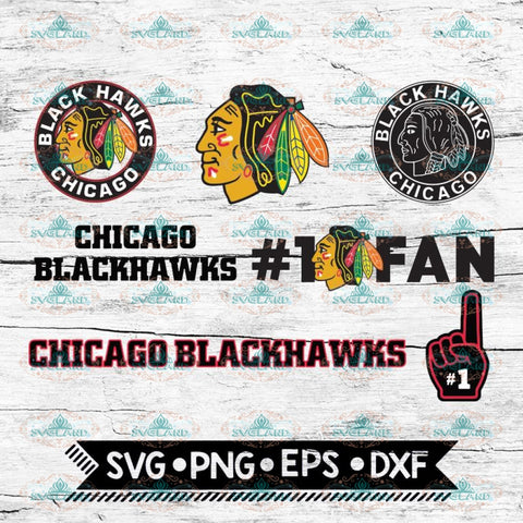 Chicago Blackhawks Hockey Team, Hockey logos, NHL, Svg, Bundle