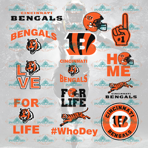 Cincinnati Bengals Football Bengals Svg College Football Bundle File Nfl Ncaa Digital