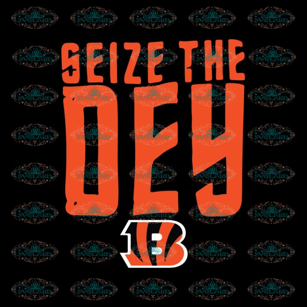 Cincinnati Bengals Heart Svg, Seize The Dey Bengals Svg, Cricut File, Clipart, Football Svg, NFL Svg, Sport Svg, Love Football Svg