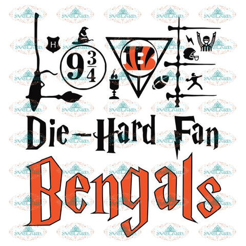 Cincinnati Bengals Svg, Harry Potter Svg, Cricut File, Clipart, NFL Svg, Football Svg, Sport Svg, Love Football Svg, Png, Eps, Dxf