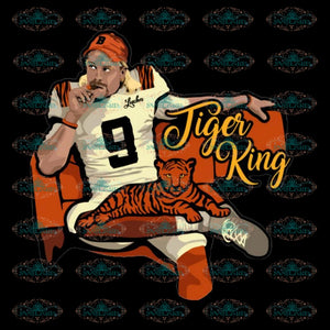 Cincinnati Bengals Svg, Tiger King Bengals Svg, Cricut File, Clipart, Football Svg, NFL Svg, Sport Svg, Love Football Svg