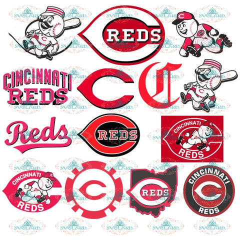 Cincinnati reds clipart Svg, MLB Baseball, ai svg eps dxf Design Files For Cricut Silhouette