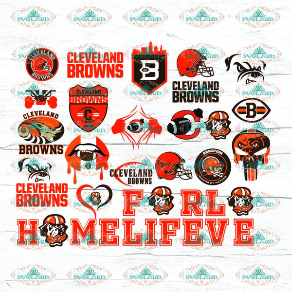 Cleveland Browns Bundle File Football Team Shirt College American Nfl Ncaa Digital