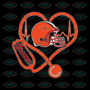 Cleveland Browns Svg, Football Heartbeat Browns Svg, Love Browns Svg, Cricut File, Clipart, Football Svg, Skull Svg, NFL Svg, Sport Svg, Love Football Svg