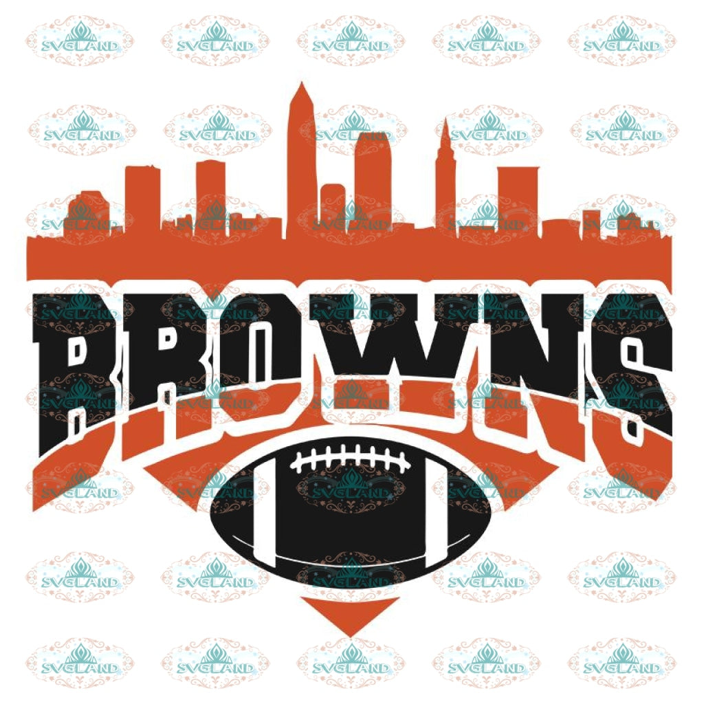 Cleveland Browns Svg, Football Browns Svg, Love Browns Svg, Cricut File, Clipart, Football Svg, Skull Svg, NFL Svg, Sport Svg, Love Football Svg13