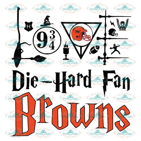 Cleveland Browns Svg, Harry Potter Svg, Cricut File, Clipart, NFL Svg, Football Svg, Sport Svg, Love Football Svg, Png, Eps, Dxf