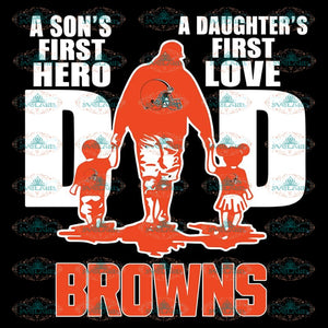 Cleveland Browns Svg, Love Dad Browns Svg, Love Browns Svg, Cricut File, Clipart, Football Svg, Skull Svg, NFL Svg, Sport Svg, Love Football Svg